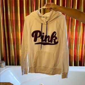 Pink White embroider Hoodie
